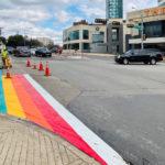 BREAKING NEWS: It's Rainbow Time! First rainbow crosswalk being painted in Oak Lawn