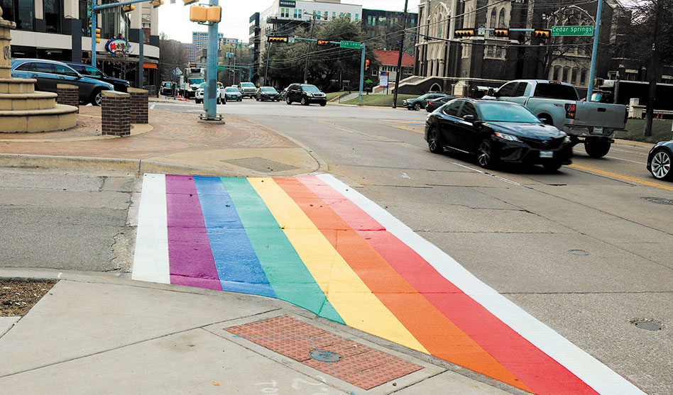 City begins installing rainbow crosswalks