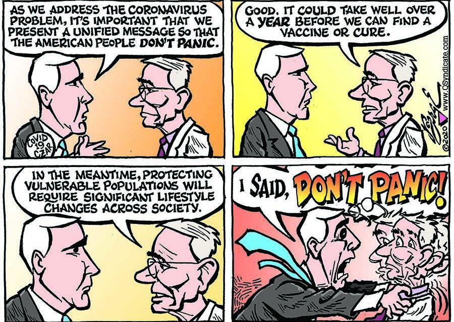 Editorial Cartoon • 03-13-20