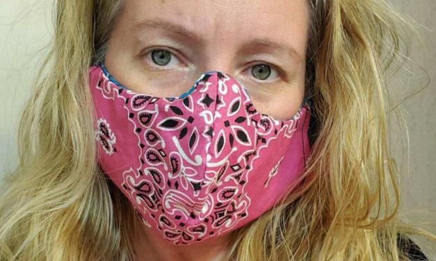 Leather Masters making emergency masks