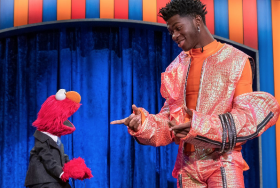 WATCH: Lil Nas X singing with Elmo