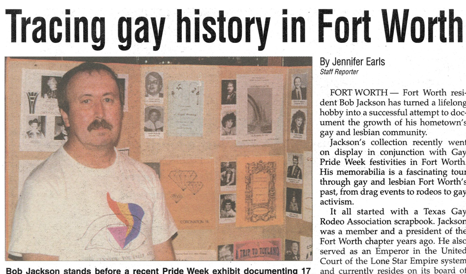 Saving Fort Worth's LGBTQ history: Todd Camp is looking for Bob Jackson's scrapbooks - Dallas Voice
