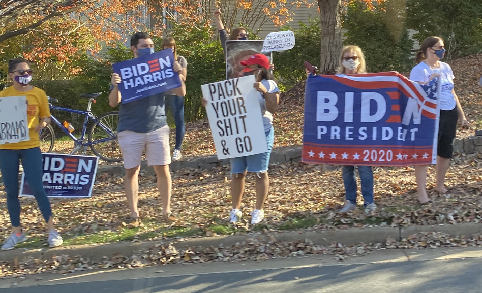 Dallasites celebrate Biden win; photos from D.C.