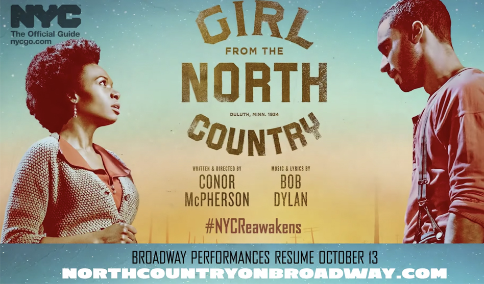 'Girl From The North Country' to resume shows on Broadway Oct. 13