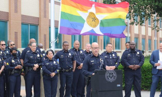 PHOTOS: Flag raising at Dallas Police headquarters
