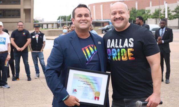 PHOTOS: Flag raising at Dallas City Hall