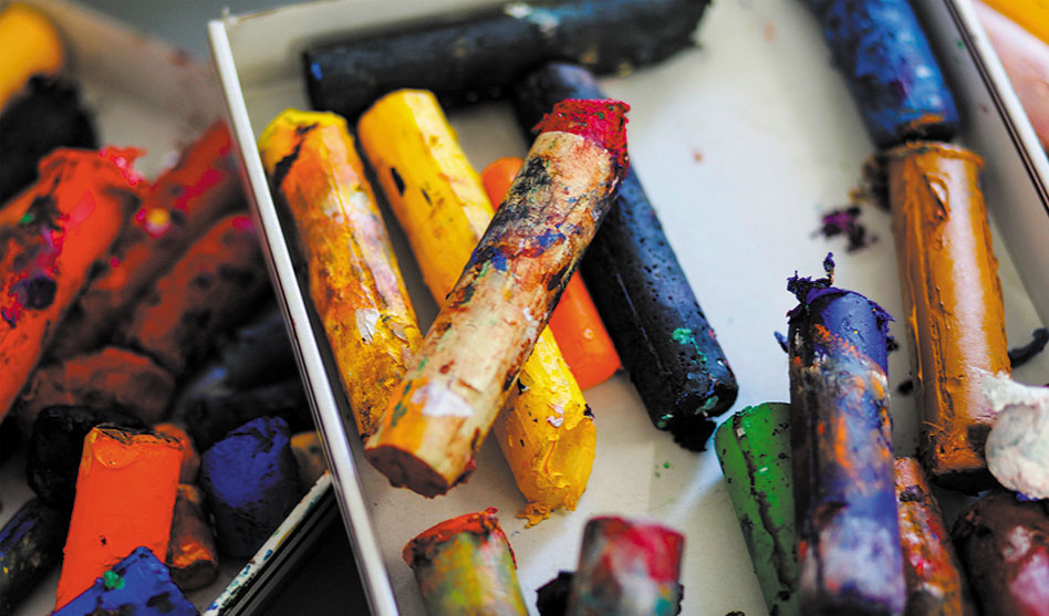You can still color with broken crayons